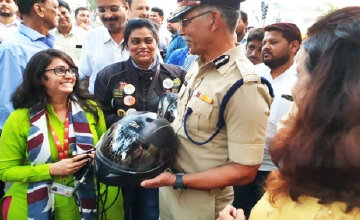 Riding across the country to promote helmet use in India - TRAX